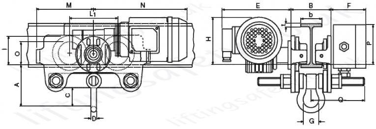 Yale Vte Electric Beam Trolley 230v 110v And 400v Range