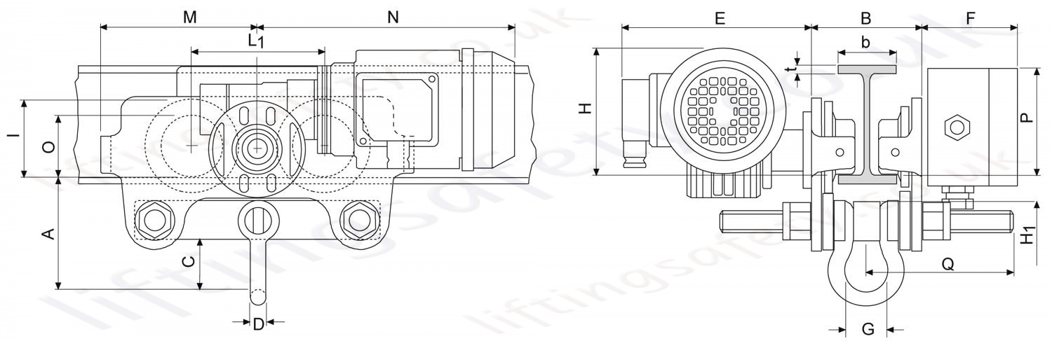 Yale Vte U Electric Trolley Dimensions