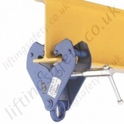 Tractel Adjustable Fall Arrest Beam Clamp Anchorage Point - Width 75mm - 235mm