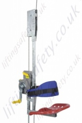 "Tractel ""Subito"" Manual Operation Temporary Use Suspended Working Seat With Fall Arrest options. Max 30m Working Height."