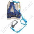 "Titan ""Kit 7"" Economy Scaffolders Fall Arrest Kit with Single Point Harness and Sewn on Energy Absorbing 2m Lanyard with Scaffold Hook and Case."