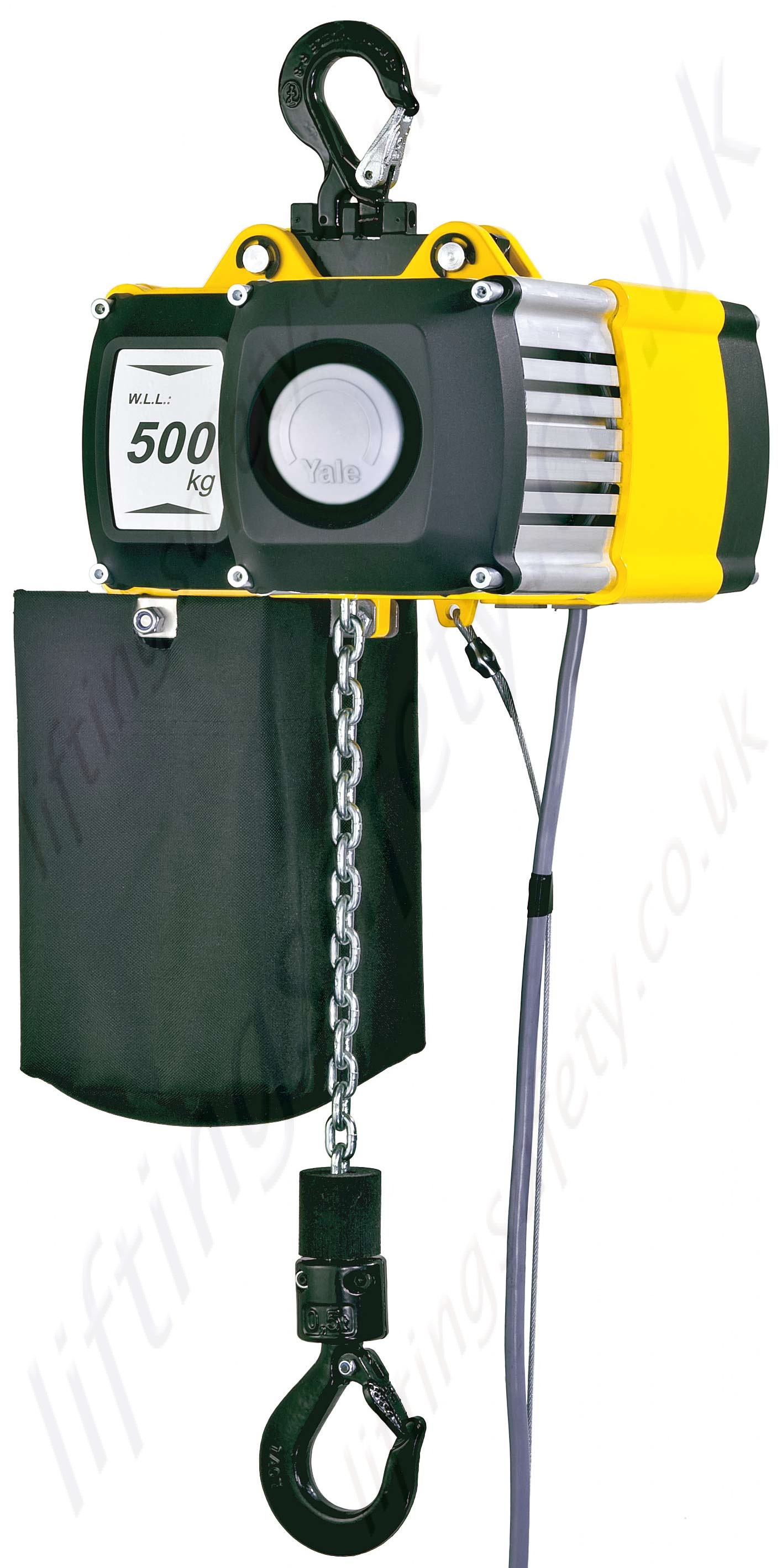 yale cpv electric chain hoist 400v 3ph 50hz range from 250kg to cpv 500kg chain bag