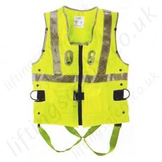Miller Duraflex 2 Point, Yellow Hi-Vis Fall Arrest Vest with Rear 'D