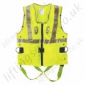 Miller Duraflex 2 Point, Yellow Hi-Vis Fall Arrest Vest with Rear 'D' Ring & Front Webbing Loops and Work Positioning Harness