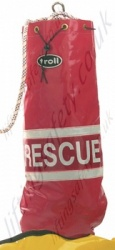 "Miller Rope Bag in Red Entitled ""Rescue"". For Rope Lengths - To suit up to 100m, 200m or 400 Metre"