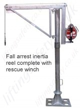 Manriding winch and Inertia reel (no integrated rescue winch)