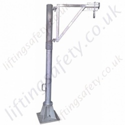 "LiftingSafety 360 Degree Slew ""Vertical Pole"" Man-Riding Davit Arm. Galvanised Modular Construction Built To Customers Specification"