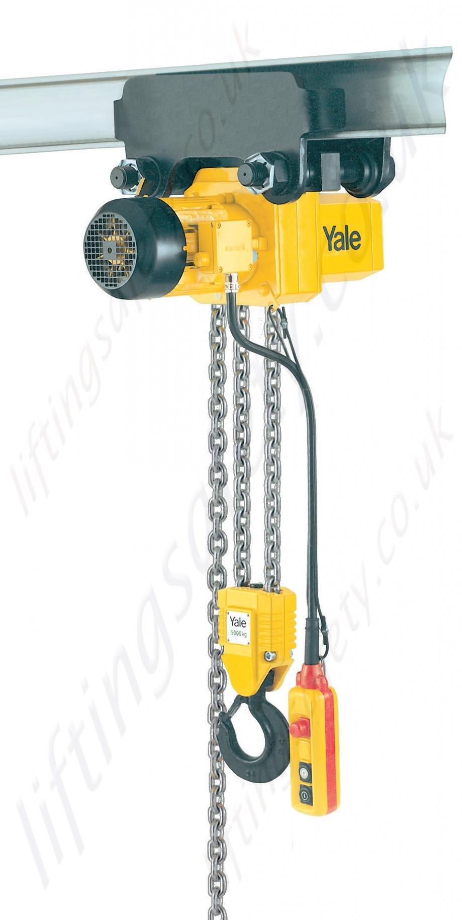 Chain Lift Diagram : Yale cpe electric chain hoist v ph hz range from