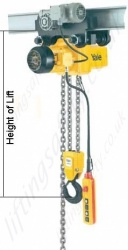 Yale Cpe Electric Chain Hoist Trolley Hol