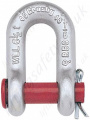 "Crosby G215 / S215 Round Pin Chain Lifting Shackles. Lifting ""D"" Shackles (Dee Shackles) with Split Pin (No Nut) - Range from 500kg to 35 Tonne"