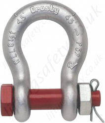Crosby G2130 Bolt Type Bow Lifting Shackles - Range from 330kg to 150000kg
