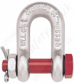 "Crosby G-2150 Bolt Type Chain Lifting Shackles, ""D"" Shackles (Dee Shackles) with Nut & Split Pin - Range from 330kg to 85,000kg"