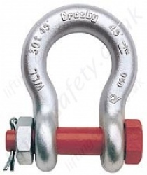 Crosby G-2140 Alloy Bolt Anchor Bow Lifting Shackles with Nut & Split Pin