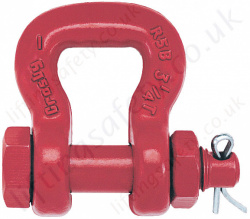 Crosby S252 Bolt Type Sling Shackle - Range from 3250kg - 50,000kg