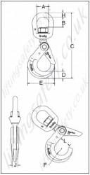Crosby    S326A ShurLoc Self Locking Swivel    Hook     Range