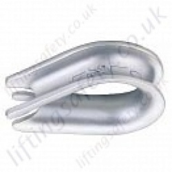 Crosby G-411/G-414 (SS414 Stainless) Wire Rope Thimbles - for Rope Sizes Ranging 3mm to 32mm
