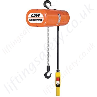 lodestar_loadstar_electric_chain_hoist yale cm lodestar electric chain hoist, 1ph or 3ph range from cm lodestar wiring diagram at aneh.co