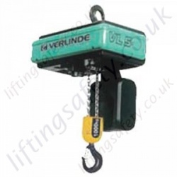 Verlinde Eurochain VL 3 Phase Standard Electric Chain Hoist - Range from 60kg to 10,000kg