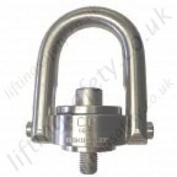 "Crosby ""SS125"" & ""SS125M""  Stainless Steel Swivel Hoist Ring Swivel Eye Bolt. Metric & Imperial Thread - Range from 200kg - 22,300kg"