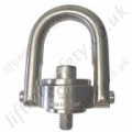 Crosby SS125/M Stainless Steel Swivel Hoist Ring with Metric or Imperial Thread