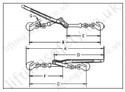 Crosby L150 Lever Type Load Binders Load Restraint