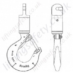 Crosby AS1 Jaw & Hook  Angular Swivel - Range from 400kg to 31500kg