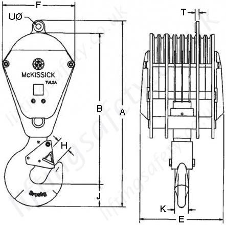 crosby mckissick 380 series crane    hook blocks  options 1