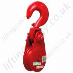 "Crosby ""L160"" Lebus Pulley Sheave Snatch Blocks. Hook, Shackle or Tail Board Options  - Range from 6000kg to 12,000kg"