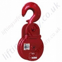 "Crosby ""C-720"" Heavy Duty Pulley Sheave Snatch Block with Hook - 6300kg"