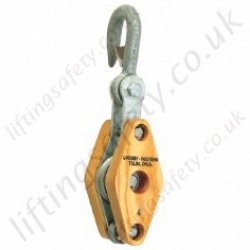 "Crosby ""HS-21-B"" Regular Wood Manila Pulley Blocks. Options 1, 2 or 3 Sheave - Range from 450kg to 2180kg"