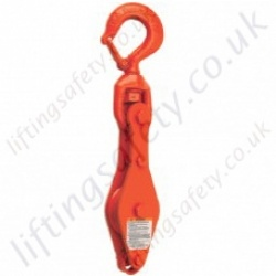 "Crosby ""N411B"" Loose Swivel Pulley Sheave Hooks. Options at 1, 2 or 3 sheave - Range from 900kg to 3630kg"