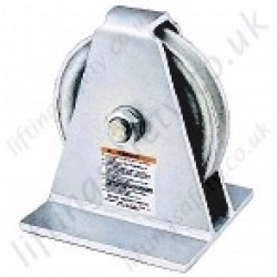 Crosby 601S Vertical Lead pulley Blocks. Option Painted or Galvanized - Range from 1810kg to 4540kg
