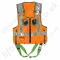 Miller Duraflex 2 Point Hi-Vis Orange (Railway) Fall Arrest Vest Harness with Rear 'D' Ring & Front Webbing Loops
