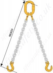 Lifting Chain Sling Assemblies, Grade 8 / 80 - Chain Diameters 7mm