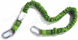 Miller Manyard Elasticated Fall Arrest Lanyard, Length 1.5m or 2m with Optional Fittings