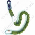 "Miller ""ME82"" Manyard  Elasticated Fall Arrest Lanyard with Many Options of Karabiner, Scaffold Hook and Snap Hook - 1.5 or 2 Metre"