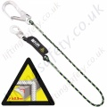 "Miller ""Horizontal Use"" Fall Arrest Lanyard with Choice of Karabiner, Scaffold Hook and Snap Hook - 2 Metre"