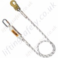 "Miller ""ME51"" Rope Fall Arrest Single Leg Lanyard with Choice of Karabiner, Scaffold Hook and Snap Hook  - 1.5 or 2 Metre"