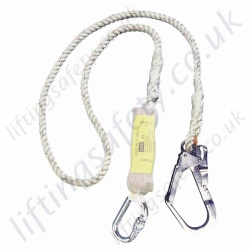 "Miller Titan ""Economy"" Rope Fall Arrest Lanyard with Choice of Karabiner, Scaffold Hook and Snap Hook - 2 Metre"
