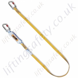 "Miller ""ME"" Webbing Fall Arrest Single Leg Lanyard. Many Options of Karabiner and Scaffold Hook - 1.5 or 2m"