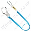 "Miller Titan ""Economy"" Webbing Fall Arrest Lanyard. Options of Karabiner and Scaffold Hook - 2 Metre"