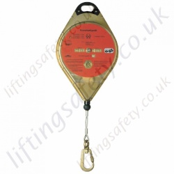 "Miller Soll ""Crane Descender"" Automatic Evacuation Rescue Descender Block Steel Cable Lanyard with Snap Hook - 12m or 30 Metre"