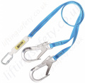 Miller Titan Economy Twin Leg Fall Arrest Lanyard with Scaffold Hooks - 2 Metre Long