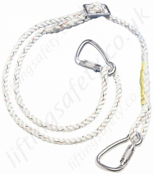 "Titan ""Economy"" Adjustable Pole Strap, Work Positioning Lanyard With Twist Lock Alloy Karabiners. ""Adjustable Restraint Lanyard"" - Adjusts 1.2 - 2 m"