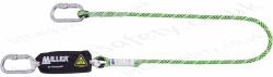 "Miller ""Edge Tested"" Kernmantel Shock Absorbing Lanyards, Single or Twin Leg with Optional Length and Fittings"