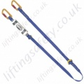 "Miller Fall Arrest ""Tie Back"" Single Leg Lanyard. Options with Karabiners and Without. - 1.5 or 2 metre"