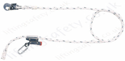 "Miller ""MC"" Adjustable Pole Strap. Work Positioning Lanyard. Alloy Jaw Adjuster and Snaphook. ""Adjustable Restraint Lanyard"" - 2, 3 or 4 metre"