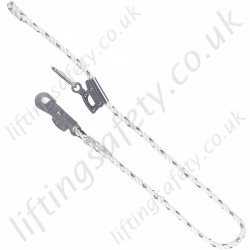 "Miller ""Reglex"" Adjustable Pole Strap for Work Positioning c/w Sliding Jaw Adjuster and Snaphook. ""Adjustable Restraint Lanyard"" - 2, 3 or 4 m"
