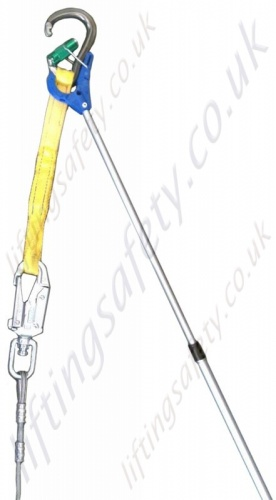 Telescopic Pole with Karabiner and Lanyard