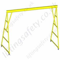 Steel 'I' Profile A Frame Mobile Lifting Gantry - Bespoke Gantries Made to Customers Specification, Heavy Duty with 500kg to 5000kg Capacities